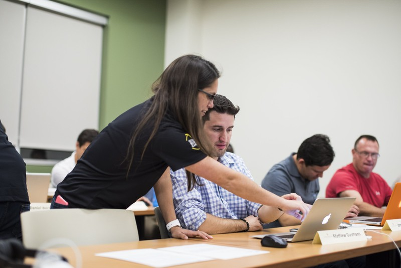 Students attending a University of Central Florida boot camp