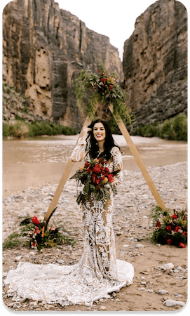 BRIDE PHOTO IN BIG BEND, TEXAS