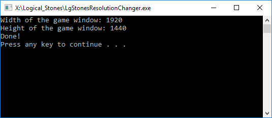 Resolution changer tool in action