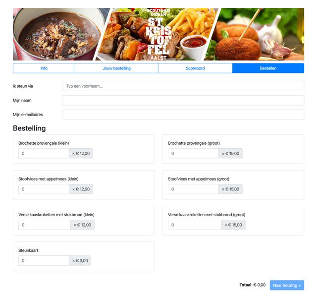 Bestellen kon eenvoudig online, inclusief betaling