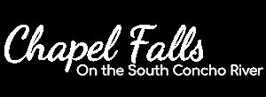 Chapel Falls in Christoval Texas Wedding Venue logo
