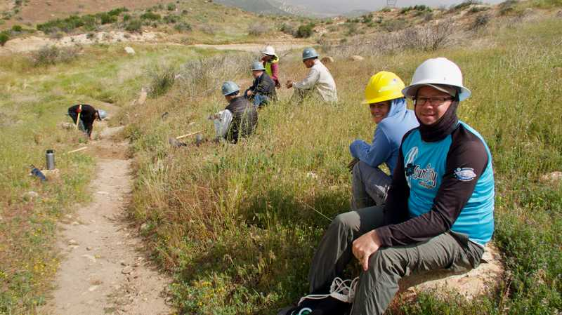 Pacific Crest Trail maintenance crew