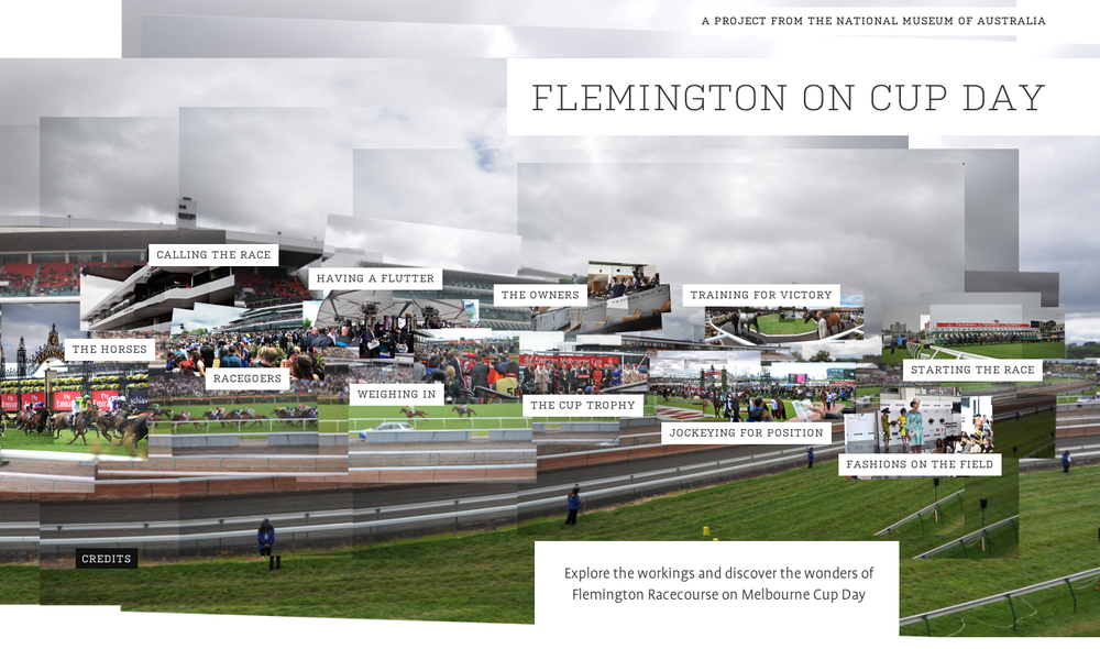 Home page of Flemington on Cup dat