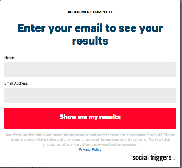social triggers opt-in