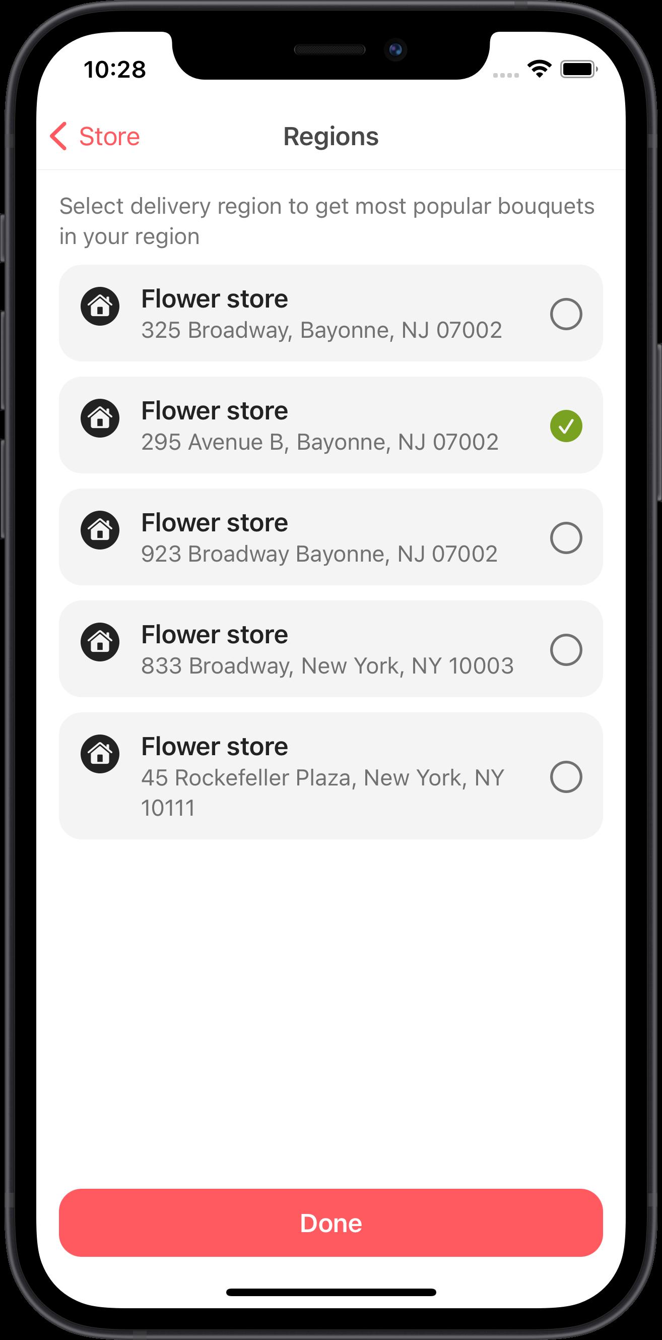 design system, flowers store, app, ui, ux, uikit