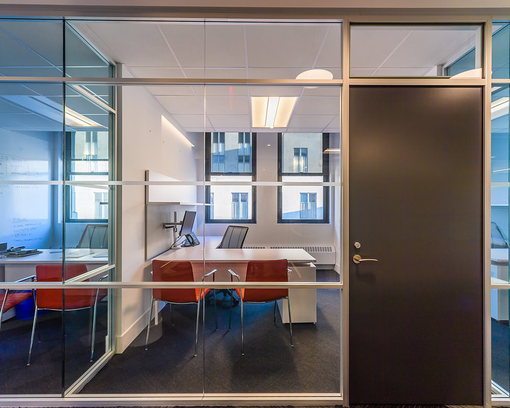 Another Office Room with Glass walls and Multi-Level Frame