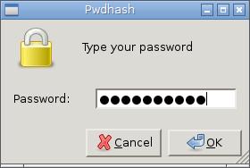 Pwdhash Password Entry Via Zenity