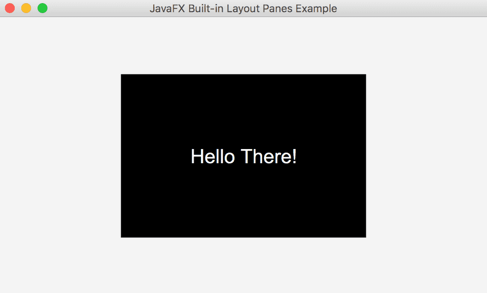 JavaFX StackPane Example