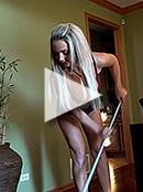 Nikki Mopping Floors