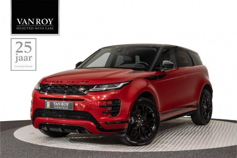 "Land Rover Range Rover Evoque P300 R-Dynamic 300pk AWD Black Pack Panoramadak ClearSightSpiegel MeridianSound Volleder AmbientLight Navi Keyless Full-Led DAB 20"" 360Camera Pdc afbeelding 1"