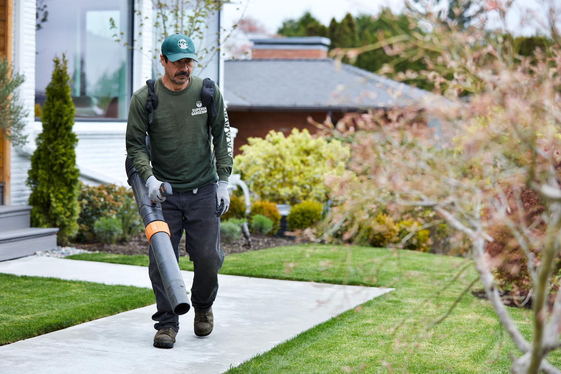 Superior Gardening Maintenance Leaf blowing Seattle
