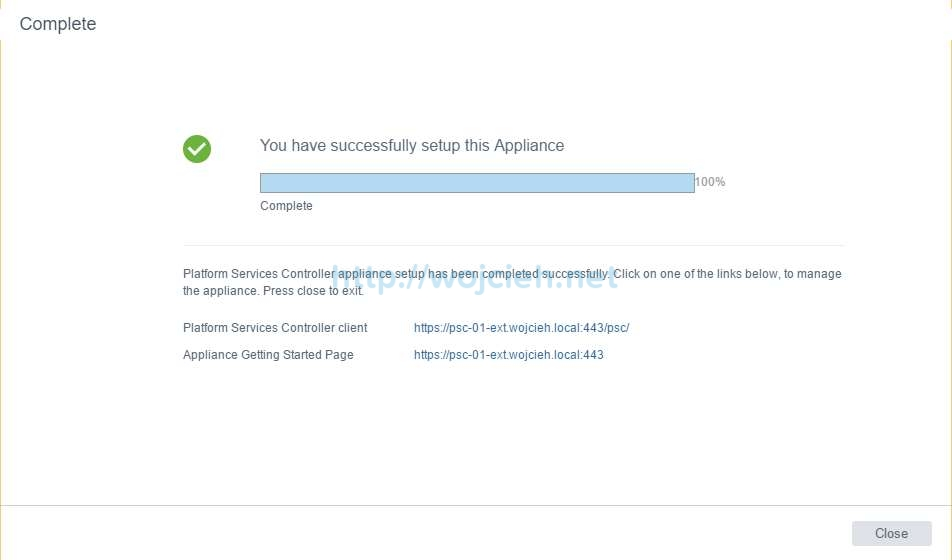 vCenter Server Appliance 6.5 with External Platform Services Controller - 18