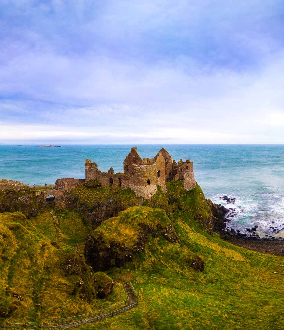 View of Dunluce Castle which featured as Game of Thrones' House of Greyjoy