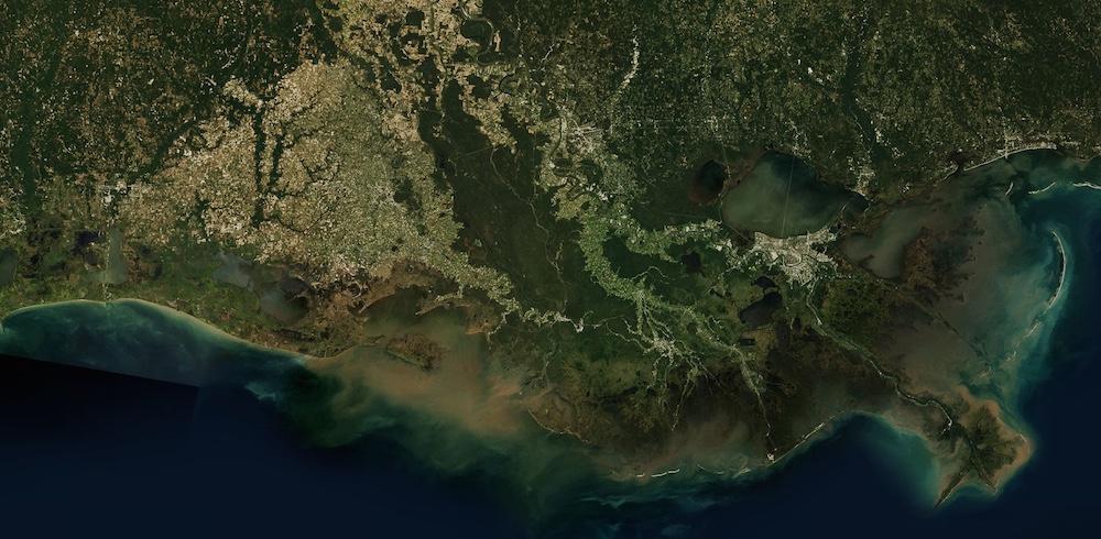 Louisiana from space