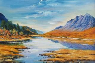 Autumn Reflections Loch Clair