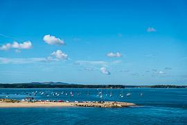 Poole Harbour, near Poole, England, United Kingdom