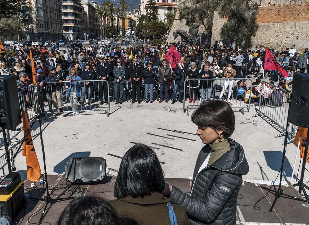 Commemorazione in ricordo delle vittime di mafia del 21 marzo a Sanremo