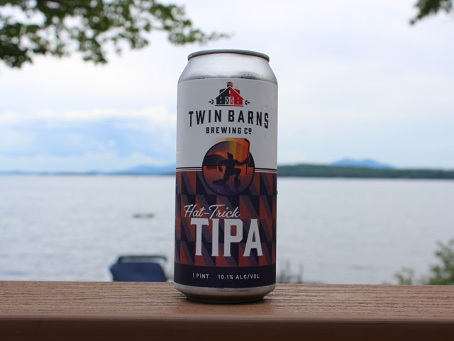 Hat Trick, a Triple IPA brewed by Twin Barns Brewing Company