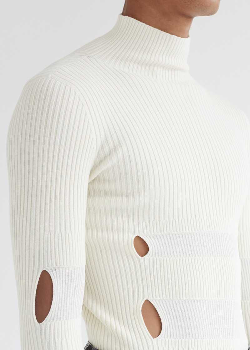 Leif Sweater Off-white detail