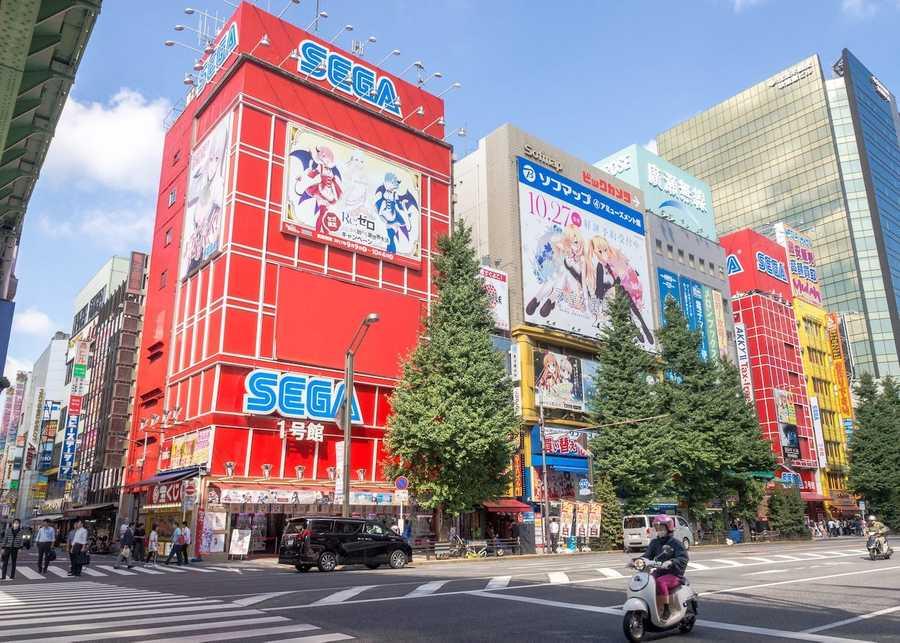 Sega building in Akihabara