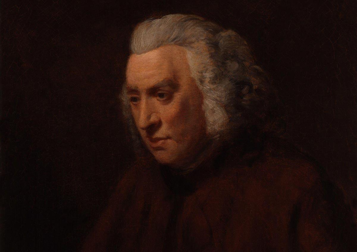 A portrait of Dr Samuel Johnson