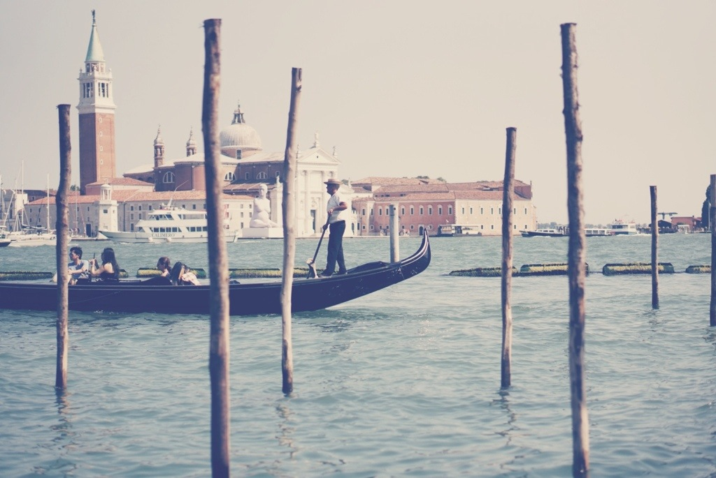 Gondolier during day