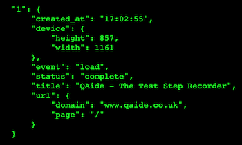 QAide Extension - JSON Example