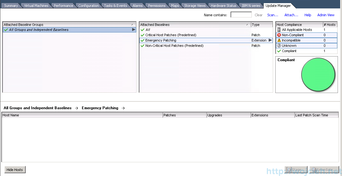 ESXi patching using VMware Update Manager 9