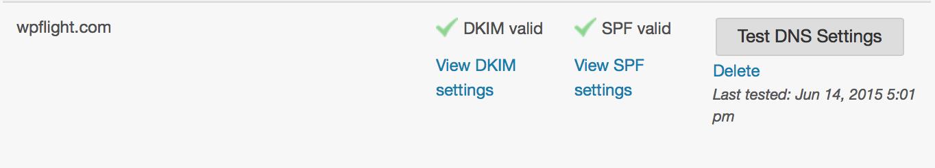 Setting up DKIM & SPF