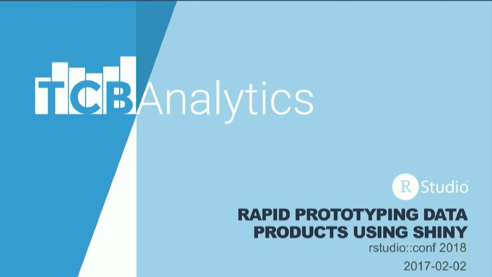 Rapid prototyping data products using Shiny