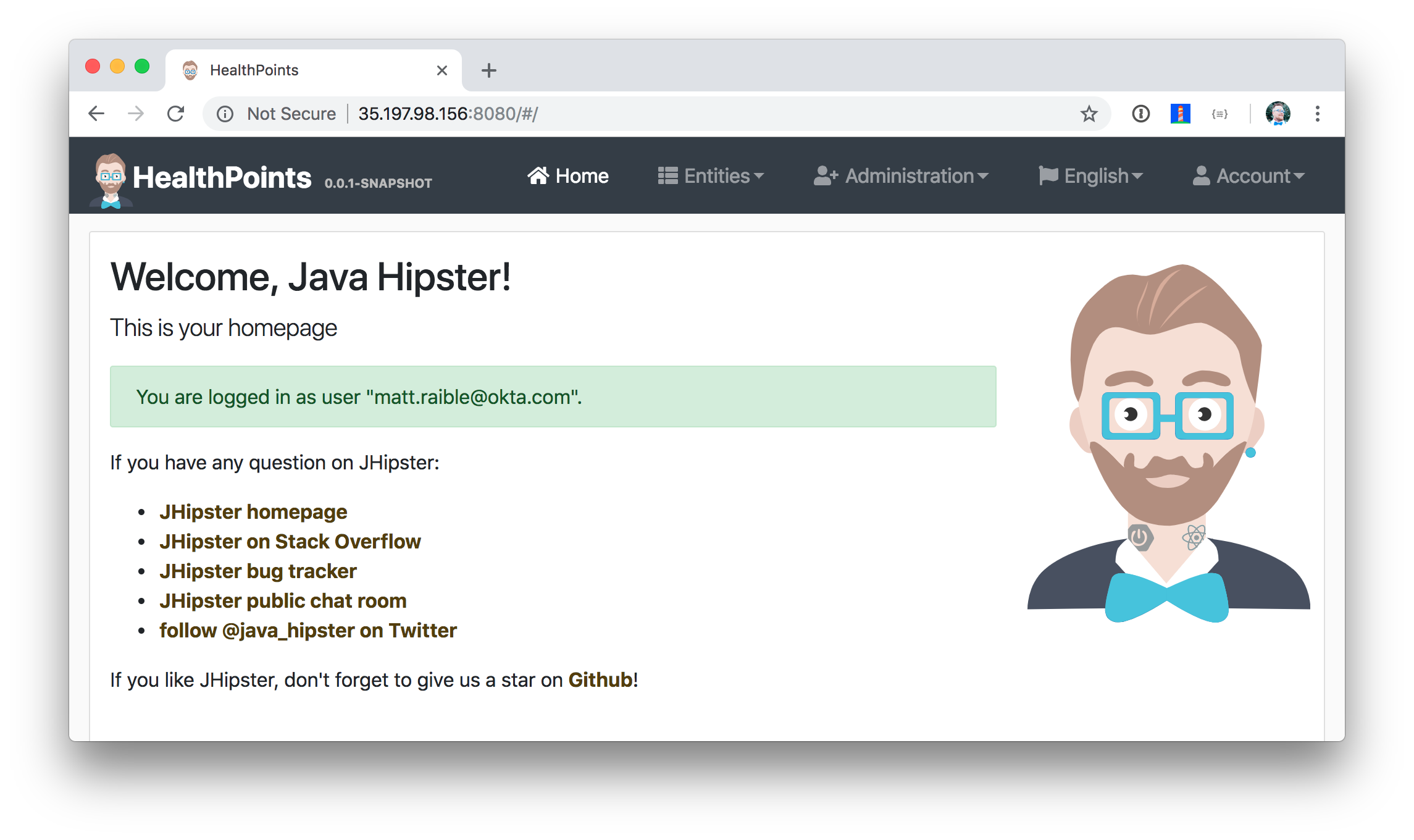 JHipster API on GKE