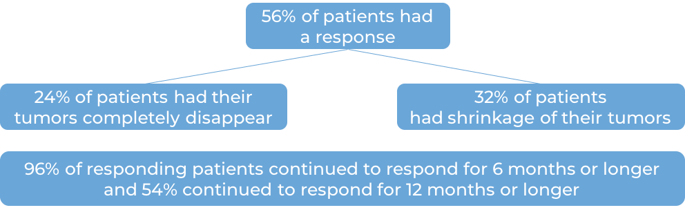 Results after treatment with Keytruda (diagram)