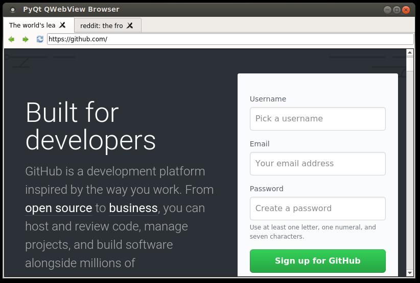 webkit browser | Python Tutorial