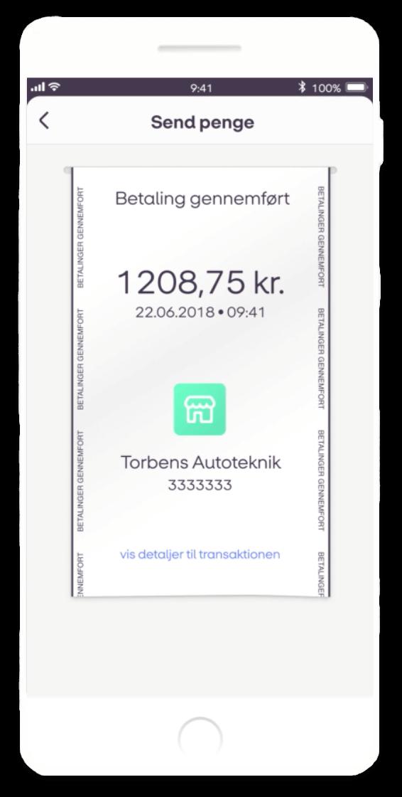 MobilePay faktura bliver betalt