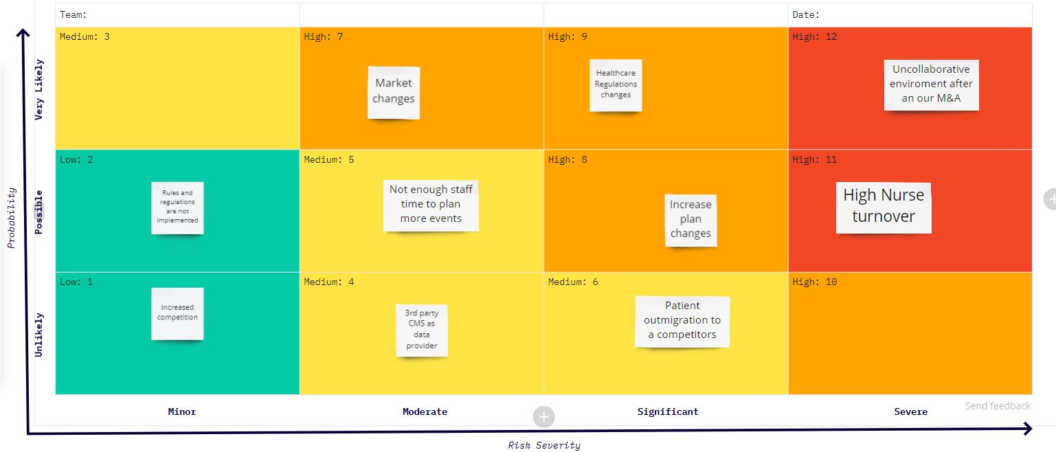 healthcare planning strategy - Risk Assessment Matrix