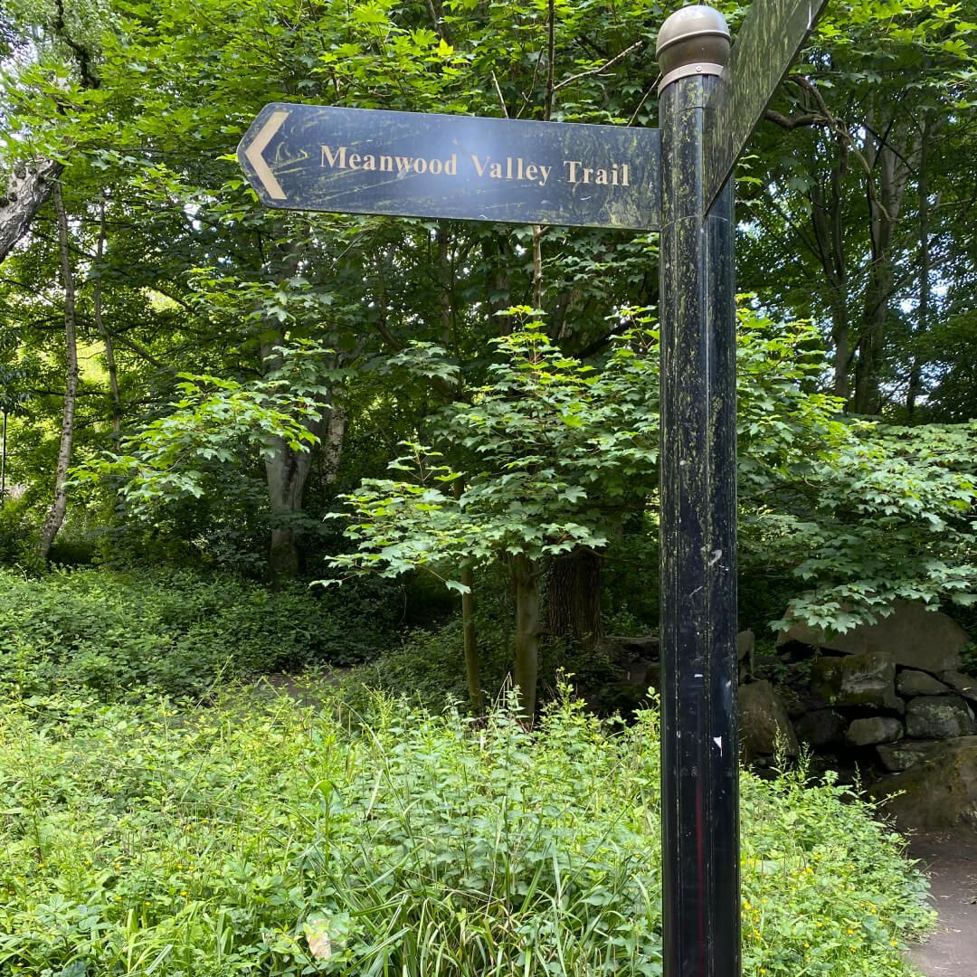Meanwood Valley Local Nature Reserve sign