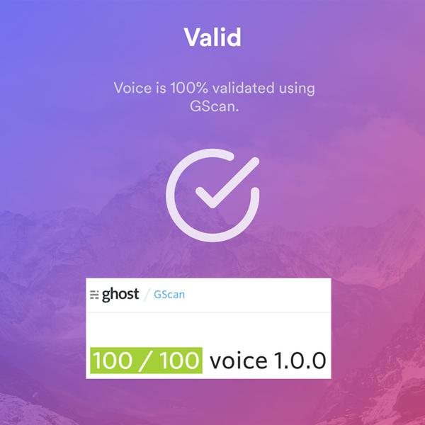 Voice Ghost gscan