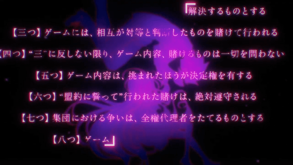 Ten pledges from No Game No Life Opening