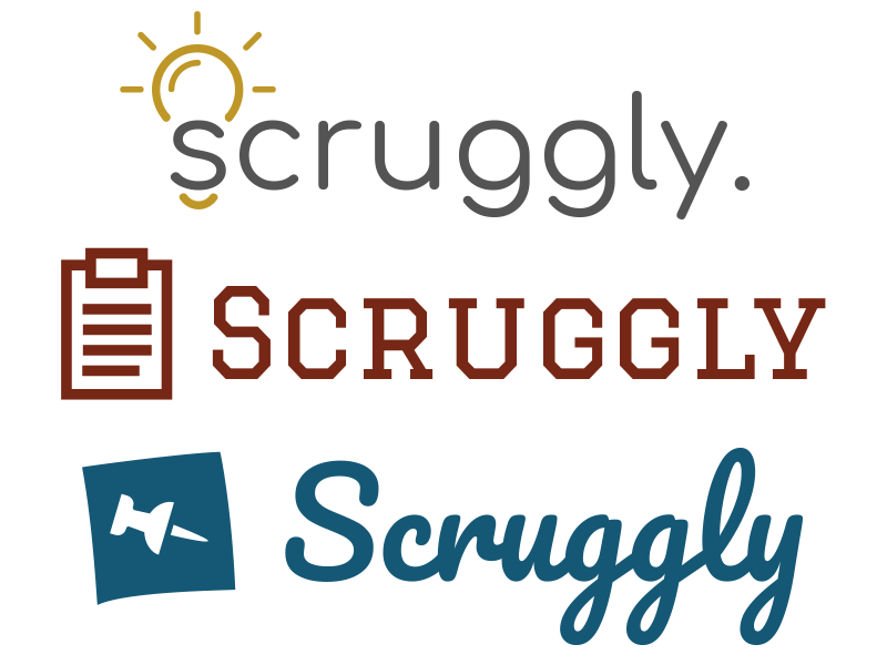 Scruggly logos