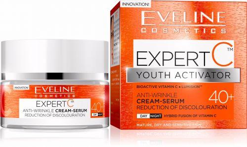 EVELINE EXPERT C BIOAKTÍV C-VITAMIN 40+ tartalmú bőrfiatalító nappali/éjszakai arckrém szérum 50 ml