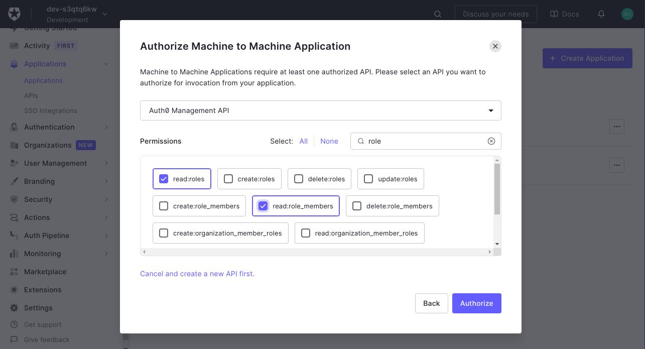 Auth0 Management API Scopes