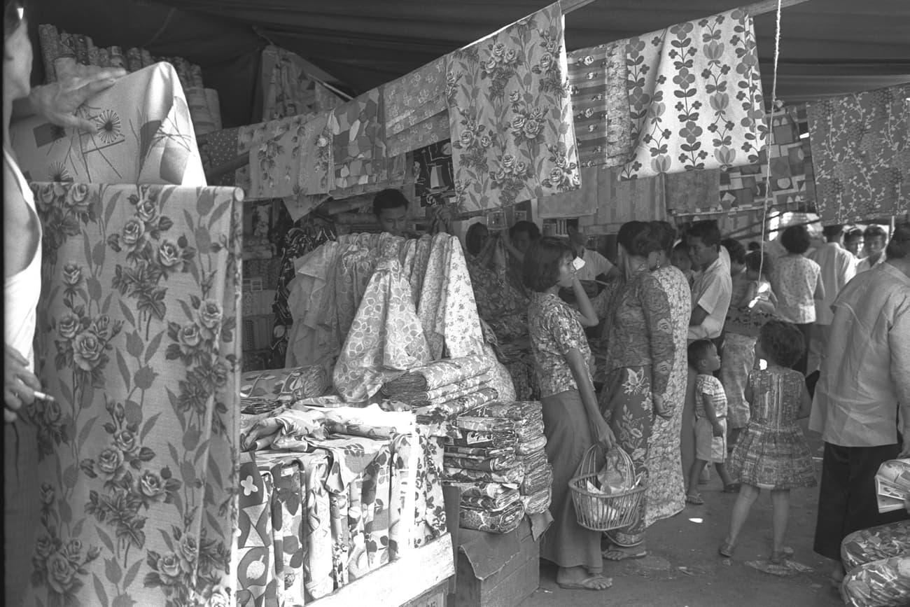 Hari Raya Aidilfitri festive shopping, 1965