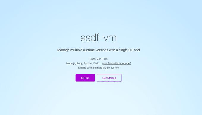 asdf เครื่องมือที่จัดการ Version ต่างๆครอบจักรวาล