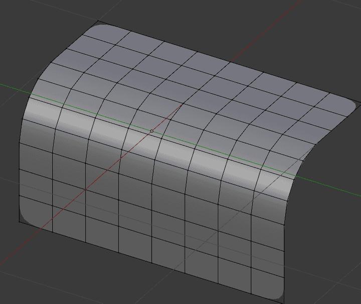 四角形面を曲げる