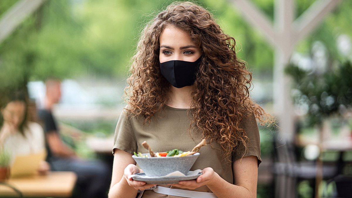 Food businesses must consider the pros and cons of making face masks mandatory for customers.