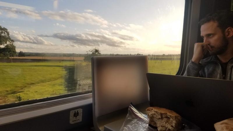 Train ride through the French and Swiss countrysides