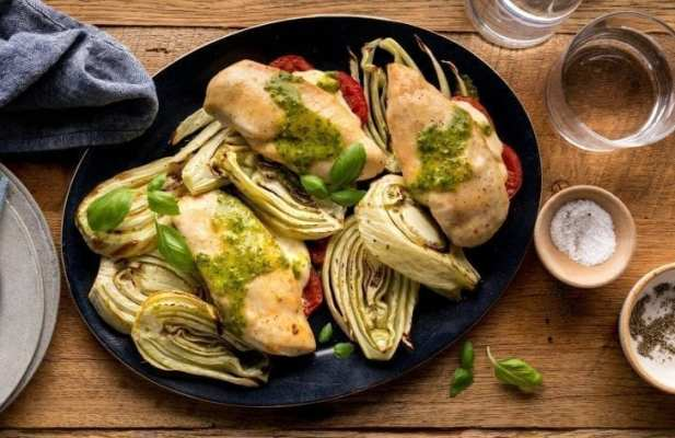 Hasselback Chicken Caprese With Fennel Foodwage