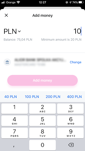 Example in Revolut