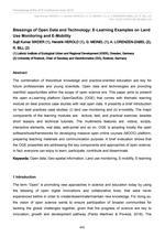Blessings of Open Data and Technology: E-Learning Examples on Land Use Monitoring and E-Mobility