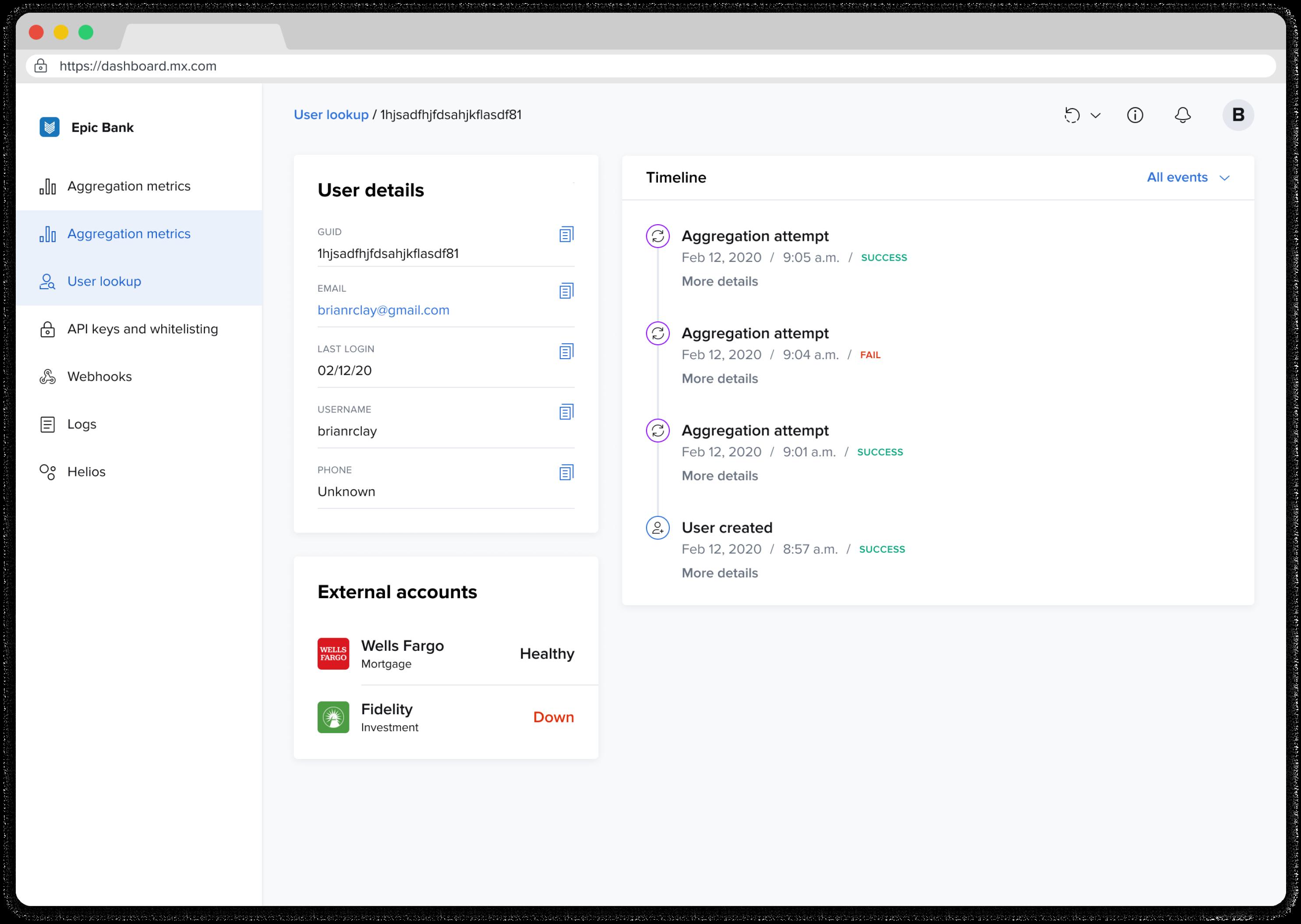 mx client portal example screen 1
